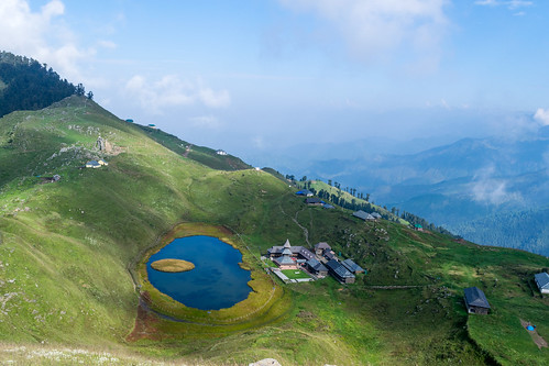 Prashar Lake and all the nearby constructions