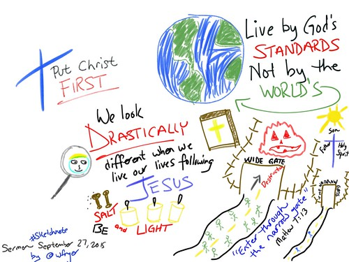 Sermon Sketchnote: Matthew 7:13-14 by Wesley Fryer, on Flickr