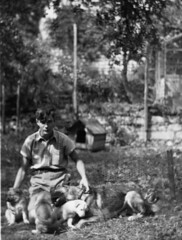 PUPPIES (JOHN MORGAN .) Tags: from old uk family england bw white house man black hat vintage found for photo seaside interesting artist photographer child looking photos unitedkingdom guess no album name unknown and british unusual names on the a johnmorgan of