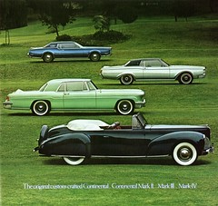 The Lincoln Continental Marks (aldenjewell) Tags: mark iii continental ii lincoln 1956 1968 1977 1972 brochure iv 1941