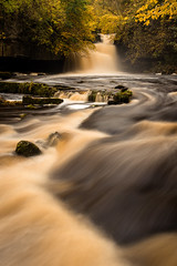 West Burton Falls full flow (archie1932) Tags: autumn england water river yorkshire waterfalls yorkshiredales yorkshirelandscape