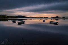 Loch Rusky (GenerationX) Tags: trees sky water silhouette clouds sunrise reflections landscape boats grey dawn mirror scotland fishing unitedkingdom scottish neil rope calm gb rowboat buoys trossachs bouys barr callander gloaming angling portofmenteith canon6d lochrusky