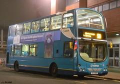 Night bus to Narborough (J.J.Pay 8581) Tags: uk bus volvo leicester wright 50 gemini midlands arriva uui2908