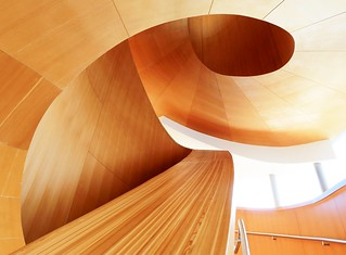 The spiral staircase in the Art Gallery of Ontario