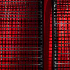 The black benches (zeh.hah.es.) Tags: shadow red black rot bench grid schweiz switzerland zurich bank zrich schatten schwarz gitter kreis5 hardbrcke zehhahes