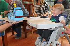 Birthday surprise! It's Thomas! #MakeAWish (KaseyEriksen) Tags: birthday boy 2 two cake children happy child tank thomas engine grandson wyatt