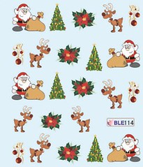 BLE114 (Jasmeet.k) Tags: santa christmas xmas tree art water nail slide musical decal transfer nailart bombastic