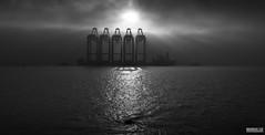 The Mersey Navel (Mark Holt Photography - 5.9 Million Views (Thanks) Tags: blackandwhite bw fog liverpool liverpooldocks sinkholes seamist whirlpools seaforthdocks zhenhua23 liverpool2 peelports