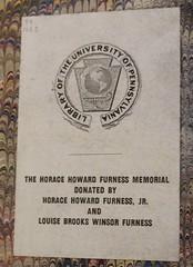 Bookplate/Label: Furness, Horace Howard, 1865-1930 ;  Furness, Louise Brooks Winsor (Provenance Online Project) Tags: englandlondon 1623 philadelphiapa shakespearewilliam15641616 pennlibraries furnesshoracehoward18651930 bookplatelabel furnesslouisebrookswinsor foliopr2751a1