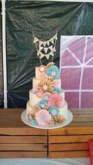 Vintage Fans (Sticky Fingers Bakery Specialty Cakes) Tags: wedding cake glitter vegan lemon sparkle raspberry vanilla mermaid bunting fondant buttercream sugarwork gumpast waferpaper