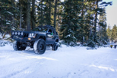 Jeep grand cherokee (David Sloboda Photography) Tags: road november winter lake snow cold ice oregon nw view jeep offroad northwest tracks scene off adventure trail badger snowfall expidition