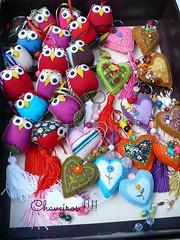 Chaveiros pra dar e vender! kkkk (romelia.artesanatos) Tags: coruja feltro patchwork chaveiro
