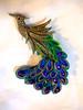 peacock kanzashi (EruwaedhielElleth) Tags: flowers flower hair handmade fabric hana accessory tsumami kanzashi zaiku imlothmelui