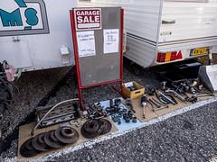 2015 Zandvoort Historic GP: Garage sale (8w6thgear) Tags: sale historic grandprix zandvoort gp gearbox paddock 2015