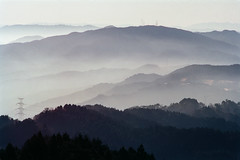 Misty Mountains (Tim Ravenscroft) Tags: mountains mist hiei hieizan kyoto japan landscape wow ruby5
