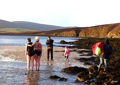 Bold New Year Swimmers At Waulkmill Bay (orquil) Tags: bold newyear lady swimmers seaside waulkmill bay january1st 2017 winter january shoreline outdoors adult females swimsuits posing spectators shallow calm sea hightide sandyarea seaweed stones low cliffs sunny afternoon orphirparish westmainland newyearsday locals cold chilly orkney islands scotland uk unitedkingdom greatbritain orcades adventurous unusual memorable interesting colourful female
