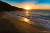 Sunrise over the Sea (Lorenzo 7) Tags: sunrise sand sea waves monterosso reflections sun water nikon d750 landscape clouds