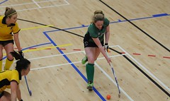 Carmel in action for Greenfields vs Pembroke at the Indoor Qualification (Greenfields Hockey Club) Tags: hockey connachthockey greenfieldshockeyclub indoorhockey leinster railwayunionhockey pembroke irishhockey greenfields greenfieldshockey