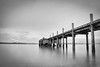 It was all so far away (spannerino) Tags: auckland blackandwhite d7100 10stop filter pier sea seaside seascape monochrome