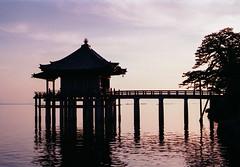 Ukimido Floating Temple (Tim Ravenscroft) Tags: ukimido mangetsuji temple flating lake biwa shiga japan evening