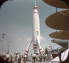 Tomorrowland Reel 2, #2b - TWA Rocket to the Moon (Tom Simpson) Tags: viewmaster slide vintage disney disneyland 1960s vintagedisney vintagedisneyland