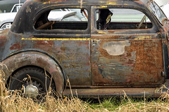 And still the light won't change . . . (garshna) Tags: abandoned abandonement classiccars decayed deserted derelict destroyed decaying dusty forgotten grasses junkcars neglected old oldcars ruins rusty weathered windows