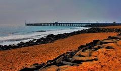 Rock beach pier 4 (Avinash Kunigal) Tags: beach pondicherry canon 1100d 1855 pier coast ocean