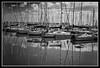 jlvill 455  Reflejos nauticos B&W (jlvill) Tags: reflejos nautica yates barcos puertos deportivos transportes blancosnegros bancos negros bw 1001nights 1001nightsmagiccity ruby3