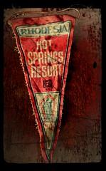 Hot Springs Rhodesia (Jackal1) Tags: rhodesia hot springs hotsprings africa flag nikon creative rustic old texture