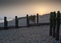 Rye Beach (gregheath) Tags: coast rye winchelsea sunset twilight shingle seadefence groins uk beach seaside