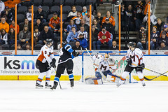 "Missouri Mavericks vs. Wichita Thunder, January 6, 2017, Silverstein Eye Centers Arena, Independence, Missouri.  Photo: John Howe / Howe Creative Photography • <a style=""font-size:0.8em;"" href=""http://www.flickr.com/photos/134016632@N02/32080938472/"" target=""_blank"">View on Flickr</a>"