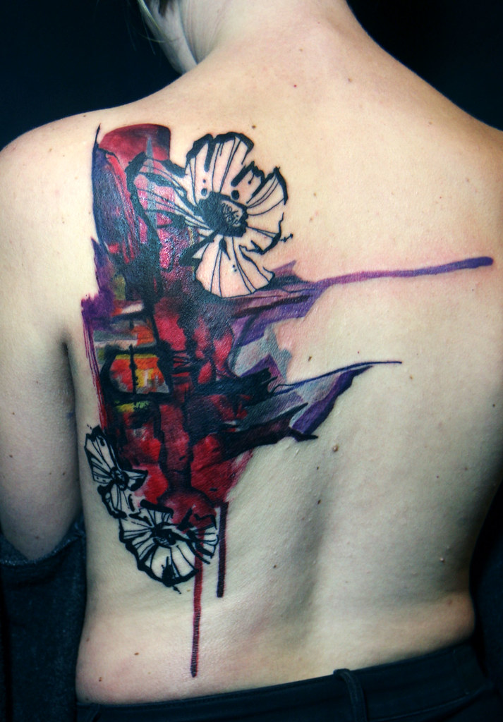 The world 39 s best photos of backpiece flickr hive mind for Abstract flower tattoo