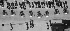 Shadow people (rienschrier) Tags: fietsers actie action monochroom shadow bikers street straat mensen zwartwit schaduw wielrenners