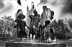 Giving it All (Idreamofpies) Tags: calais rodin london parliament statue black white monochrome selfless urban members mp mps representatives houses lords