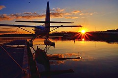 Sweet Winter Sun (otterdrivernw) Tags: kenmoreair dehavillandotter dehavilland waterreflections reflection goldensunset lakewashington wintersunsets sunset sunsets