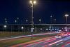 Traffic of lights (Tatiana Malevich (neverbluda)) Tags: night düsseldorf duesseldorf germany deutchland road lights traffic nightphoto light lighttrails city