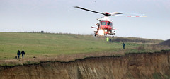 1 Coastguard Rescue Helicopter excercise (Jim_Higham) Tags: herne bay reculver kent uk britain europe winter