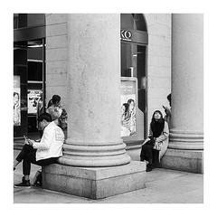 Milan, Italy (feb 2017) (pietrowsky) Tags: street photography streetphotography blackandwhite monochrome ilford film ilfordhp5 hp5 filmisnotdead believeinfilm milan italy milano italia pellicola sviluppo darkroom camera oscura chinese cinese ragazza girl look canon ae1 35mm analogue analogico agfa r09 rodinal
