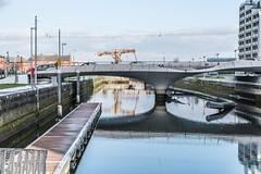 LUAS TRAM BRIDGE [ SPENCER DOCK ]-125147 (infomatique) Tags: dublindocklands luastram bridge spencerdock infomatique williammurphy transport publictransport futuresystems architects royalcanal ccd conventioncentre