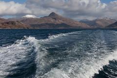 Departing Inverie in Knoydart, Scotland (David May) Tags: inverie rough bounds knoydart labour bheinn larven surr coire choinnichean corbett western isles cruise mallaig remotest pub old forge