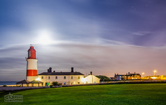 Moonlit Lighthouse (solidtext) Tags: lighthouse stars moonlit moonlight southshields souterlighthouse