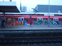 EMON . FOIM (mkorsakov) Tags: train graffiti zug bahnhof colored sbahn hbf dortmund bunt s2 emon foim