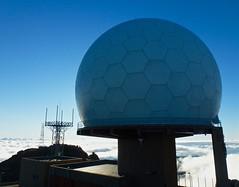Radar at the summit of Pico do Arieiro (Kumukulanui) Tags: mountain portugal clouds summit madeira radar picodoarieiro