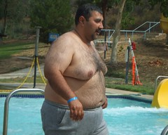 Waterpark chub 3 (I.E. Bear II) Tags: bear hairy man hot sexy guy happy gut big furry random fat handsome chub dude belly trail bubba beerbelly chubby guapo thick gordo bellies panza moobs panzon barrigon pansa stocky panson