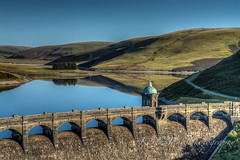 Craig Goch Dam.jpg (karen Morton McHale) Tags: uk water stone wales landscape unitedkingdom dam reservoir hdr powys rhayader elanvalley katespics