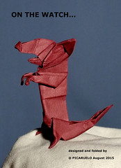 ON THE WATCH (PICARUELO) Tags: rat origami watch papiroflexia