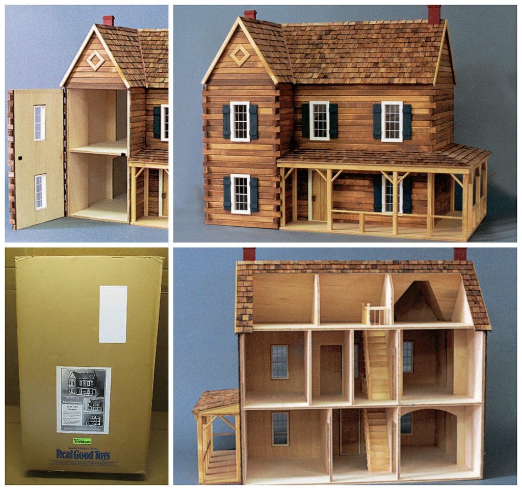 Wonderful image of  home scale real toys miniatures log cabin good kit 112 dollhouse solid with #91783A color and 1024x962 pixels