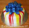 Blue Bow Birthday Cake