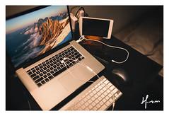 Desktop (HMvemi) Tags: desktop apple 35mm canon computer mac phone sigma 桌面 静物 佳能 摄影 手机 苹果 电脑 macbook 适马