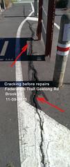 03 Vic Road Demo Work Federation Trail Geelong Rd Brooklyn 11-09-15